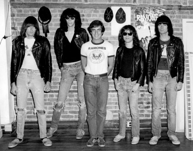 Danny com os Ramones